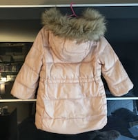 Gap Girls Pink Parka with fur