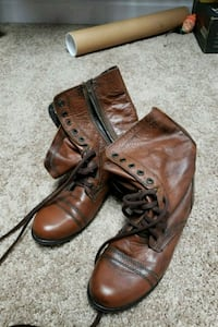 Steve madden brown company boots s Pikeville, 27863