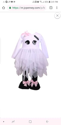 New Toddler size 4t Ghost costume Des Plaines, 60016