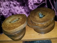 2 (4 count) wood polly Coasters Ontario, 91764