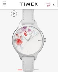 White and pink floral Timex watch brand new not worn  Edmonton, T6J 4X4