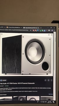 "Polkaudio  psw 10""   100 watts Richmond, V6Y 1T1"