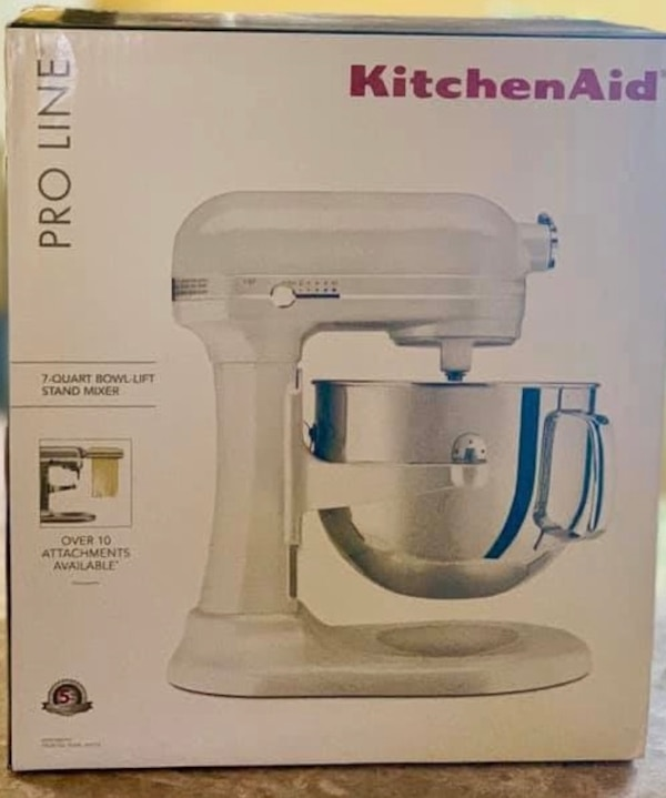 Kitchen aid 7-Quart Pro Line Stand Mixer Frosted Pearl White BRAND NEW IN  BOX