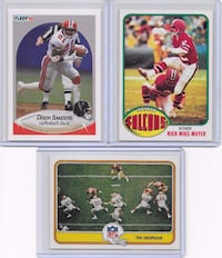 NFL Football 3 Card Lot Atlanta Falcons Sunrise