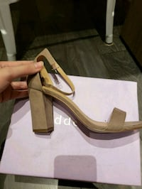NEW Steve Madden heels in tan suede size 9.5