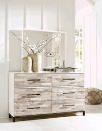 Evanni Cream/Gray Dresser | B315  VENDORASHLEY   Houston