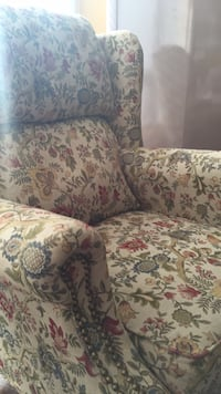 white, red, and green floral sofa chair Westmount, H3Z 2S4