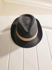 Black fedora w/ straw detail hat Burnaby, V5C 5J9