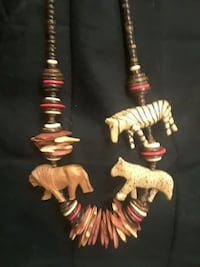 2 Rare Hawaiian Wooden Bead & Shell Necklaces