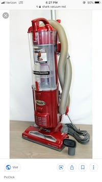 red and gray Hoover upright vacuum cleaner Hastings, 68901