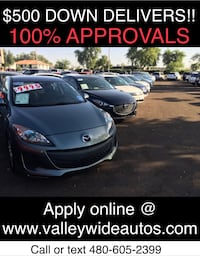 As low as $500 down gets you driving ASAP!! EVERYONE APPROVED!!