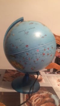 blue and red desk globe Oldham, OL8 2AW