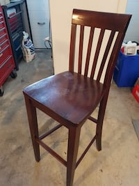 2 brown wooden bar height chairs  Surrey, V3S 9B4