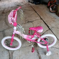toddler's pink and white bicycle Parkersburg, 26104