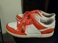pair of white-and-orange nike air force one lot New York, 10044
