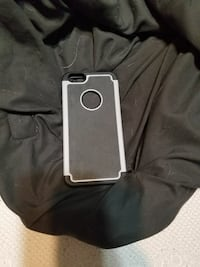 gray and black iPhone case