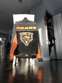 VTG 1990s Chicago BEARS leather jacket NFL vintage retro sports coat