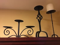 black steel candelabra