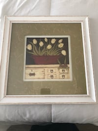 brown wooden framed painting of a woman Carmel, 46032