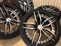 "19"" Staggered Wheels and Tires 5x114.3 Honda Nissan Infiniti Laurel, 20723"