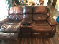 Brown leather home theater sofa Modesto, 95350