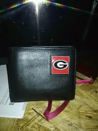 black and red Georgia Bulldogs leather bi-fold wallet Pell City, 35125