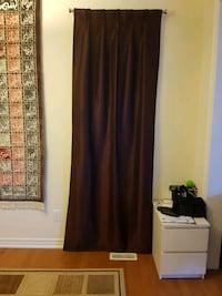 2 panels blackout curtains - dark brown Markham