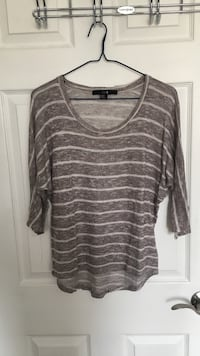 Brown and white striped scoop-neck top Toronto, M2R 3A7