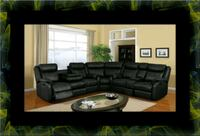 Cshape sectional black bonded leather Rockville, 20847