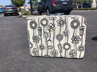 white and black floral tote bag San Diego, 92101