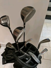 Ladies golf clubs with bag.