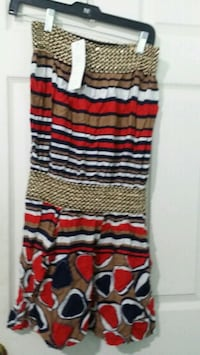 red, black, and white stripe skirt Mississauga, L4T 3T3