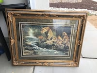 Leopard painting in yellow frame Beaumont, 92223