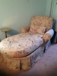 Floral chaise lounge / chair