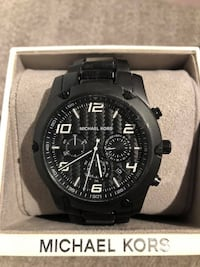 MK8473 - Michael Kors Caine Chronograph Black IP Men's Stainless Steel Watch  Markham, L3P