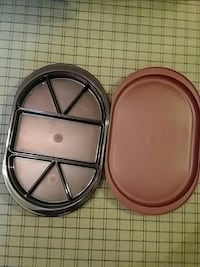 Tupperware covered sectional tray