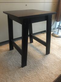 SET OF 2 SIDE TABLES AND COFFEE TABLE ESPRESSO FINISH 26 mi