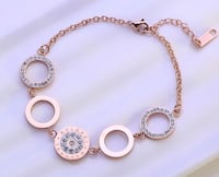 Bracelet Rose Gold with gift box Downey, 90241