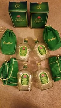 Art Glass Round Wide Crown Royal Bottles with Lid  Pasadena, 21122