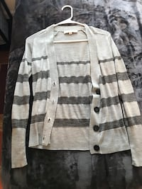 Gray and gray stripe button-up cardigan Wallingford, 06492