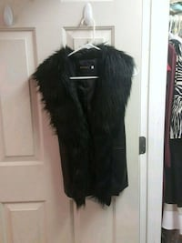 Faux Leather and Fur Vest Derry, 03038