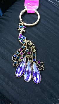 gold-colored purple and pink gemstone key-chain Pikesville, 21208