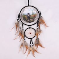 black and brown dreamcatcher