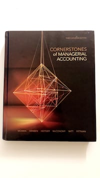 Cornerstones of Managerial Accounting Toronto, M8V 3R5