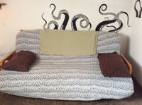 gray couch with brown wooden frame 308 mi