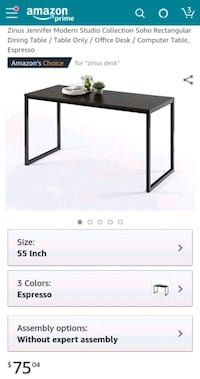 Zinus Dining Table / Desk / Computer Table Charlotte, 28202