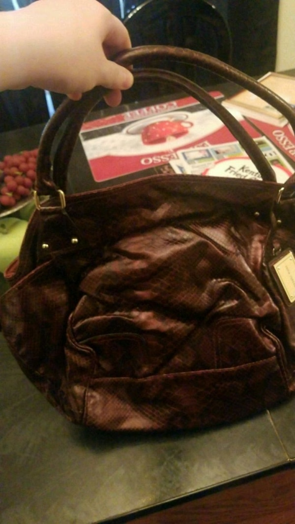 0577e45d663 Used black leather 2-way bag for sale in Hazel Green - letgo