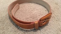 brown leather belt with silver buckle Georgetown, 78633