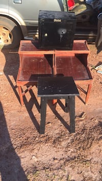 four brown wooden side tables Highland, 20777