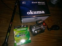 Rod reel combo with power pro braided line Suisun City, 94585